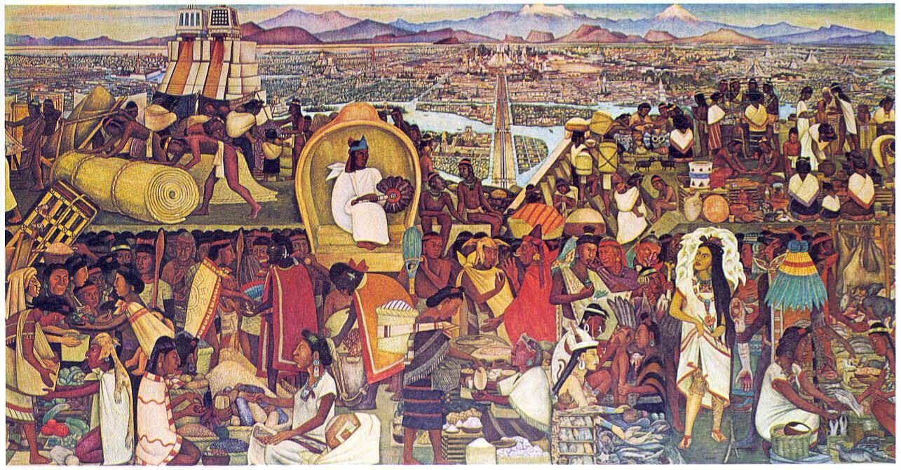 El mercado de tlatelolco diego rivera nihil alienum for Un mural de diego rivera