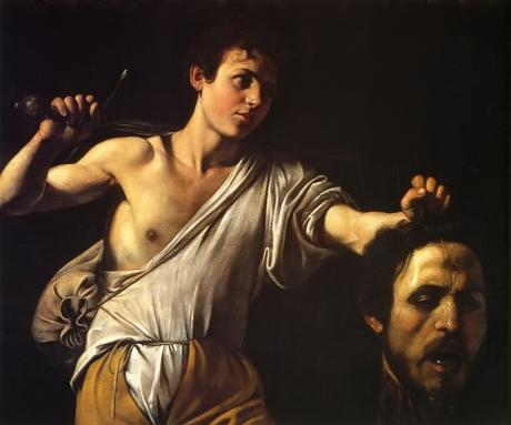 David Showing Goliath's Head by Caravaggio, 1605