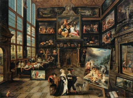 Cornelis de Baellieur - Interior of a Collector's Gallery of Paintings and Objets d'Art