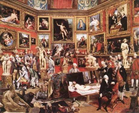 The Tribuna of the Uffizi (1772–1778) by Johann Zoffany