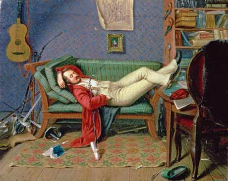 Theodore Franken - Gentleman Reclining on a Sofa