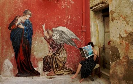 l'annunciazione zilda naples.street art Zilda