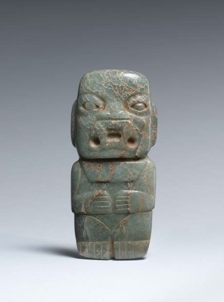 Olmec Standing Figure in Anthropomorphic Jaguar Transformation